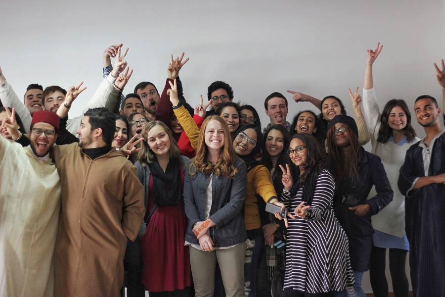 HBF Students meet American Students